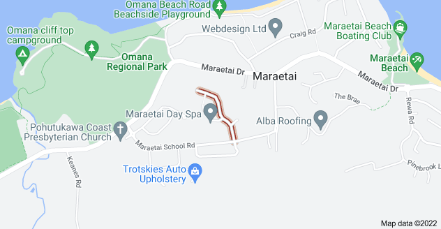 Location of Omana Heights Drive