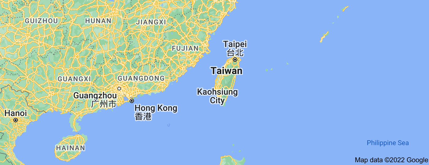 Location of Taiwan