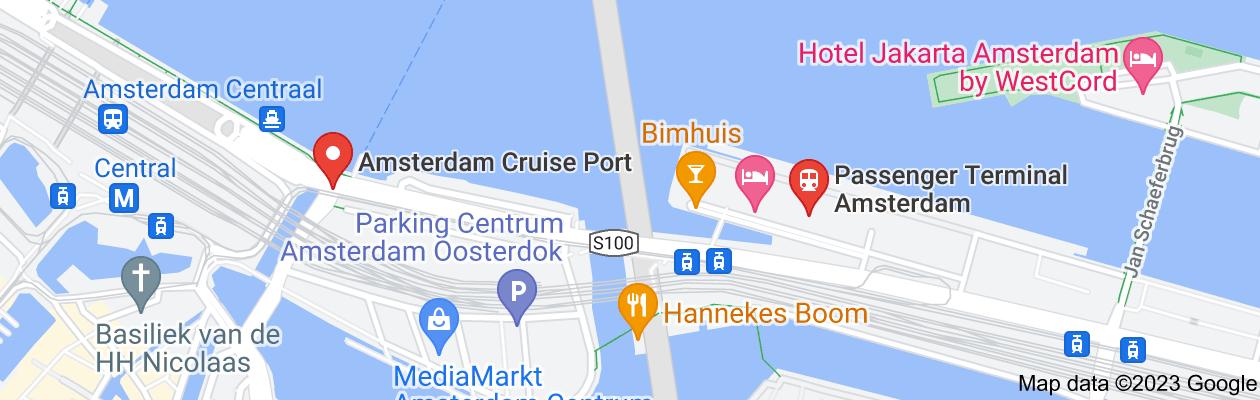 Map of Amsterdam cruise terminal
