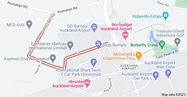 Location of Manu Tapu Drive