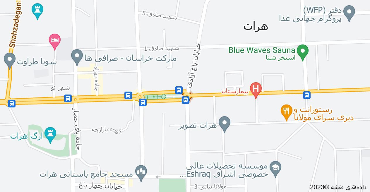 نقشه میدان سینما، هرات، افغانستان