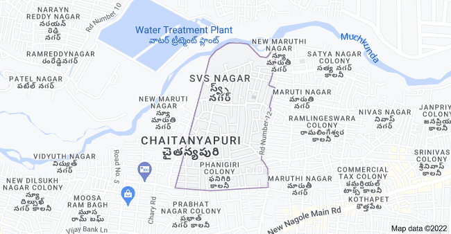Map of Chaitanyapuri, Kothapet, Hyderabad, Telangana 500060, India