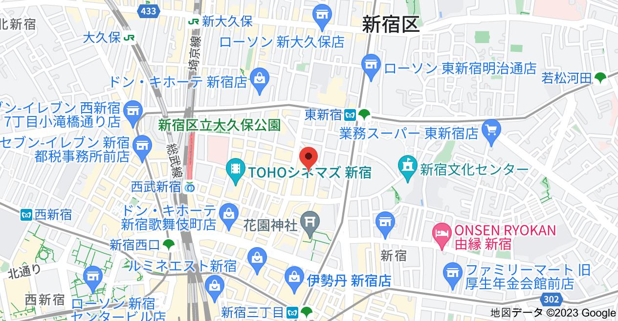 〒160-0021 東京都新宿区歌舞伎町2丁目9−10 5Fの地図