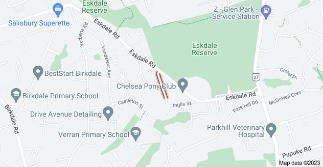 Location of Hobby Avenue