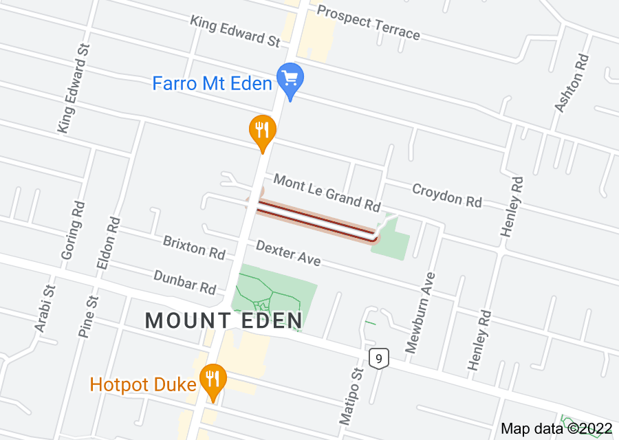 Location of Mount Pleasant Road