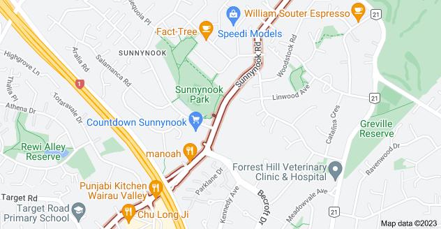 Location of Sunnynook Road