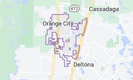 Map of Orange City, Florida