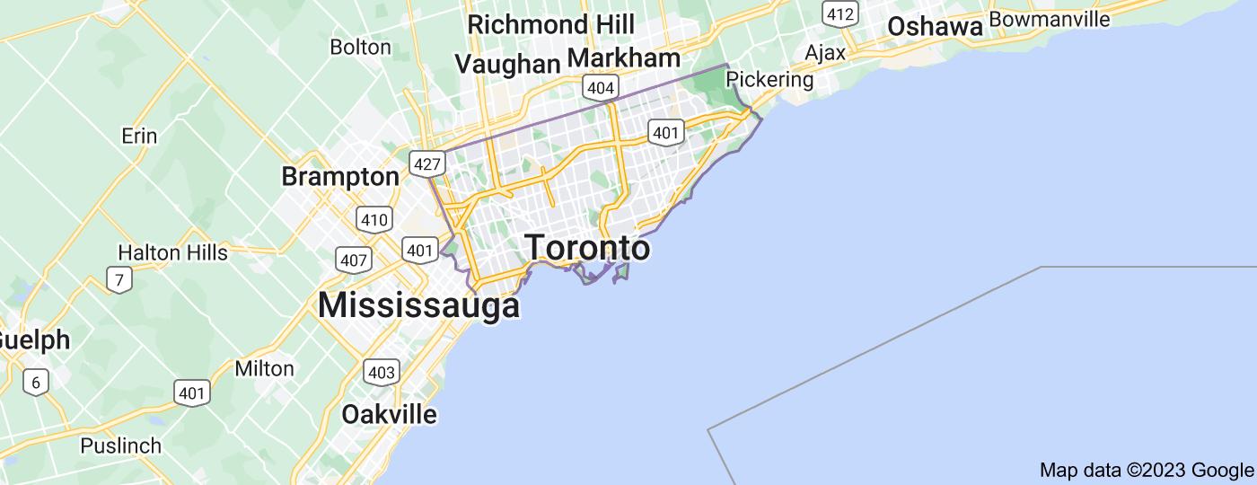 Location of Toronto