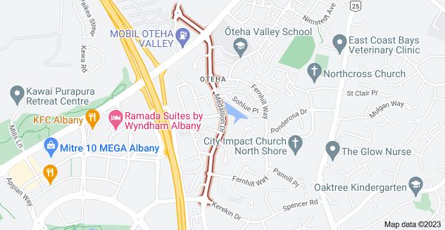 Location of Medallion Drive