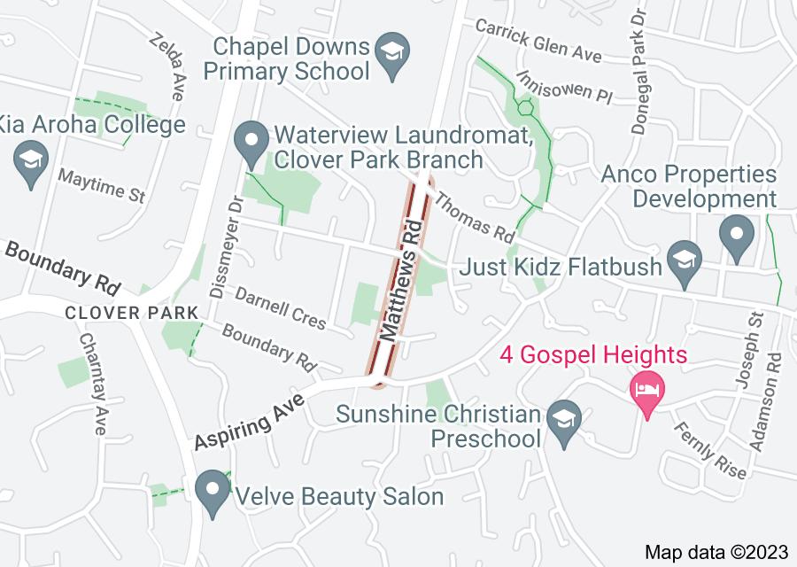 Location of Matthews Road