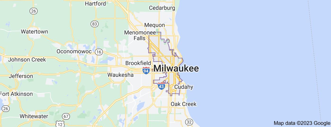 Location of Milwaukee