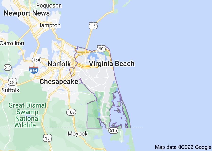 Location of Virginia Beach