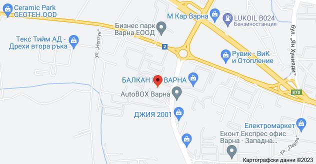 "Карта на ул. ""Атанас Москов"" 14, 9009 Запад, Варна"