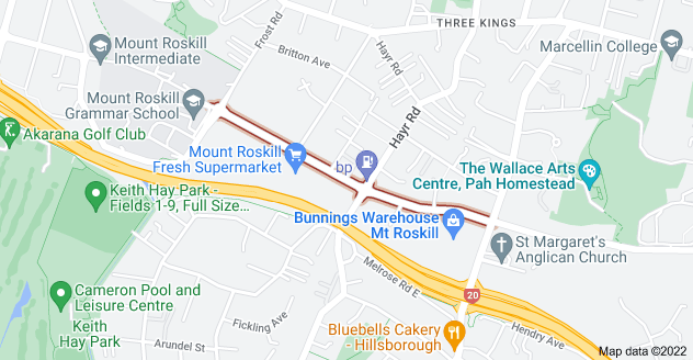 Location of Carr Road