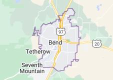 Map of Bend, Oregon