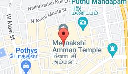 Map for Meenakshi Amman Temple