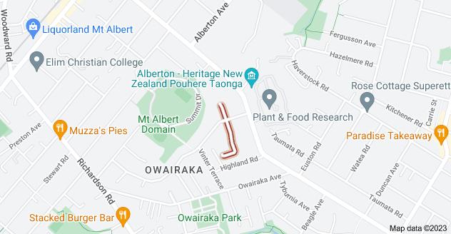 Location of Ruarangi Road