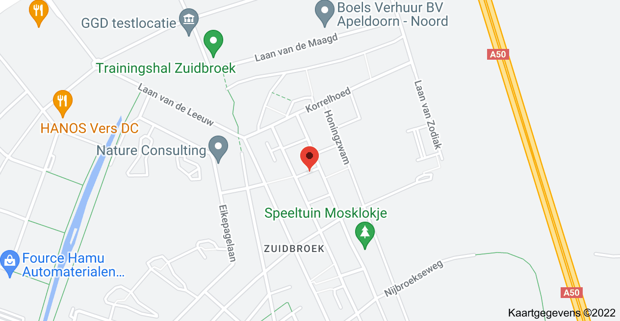 Kaart van Koraalzwam 18, 7324 CX Apeldoorn