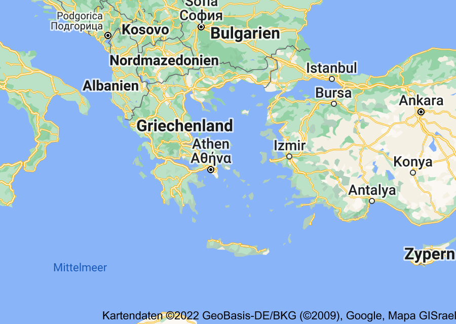 Location of Griechenland