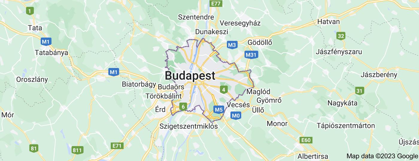 Location of Budapest