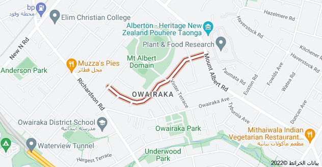 Location of Mount Royal Avenue