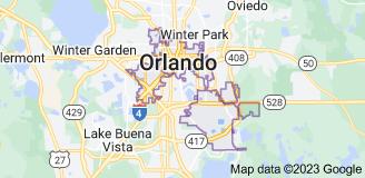 Map of Orlando, Florida