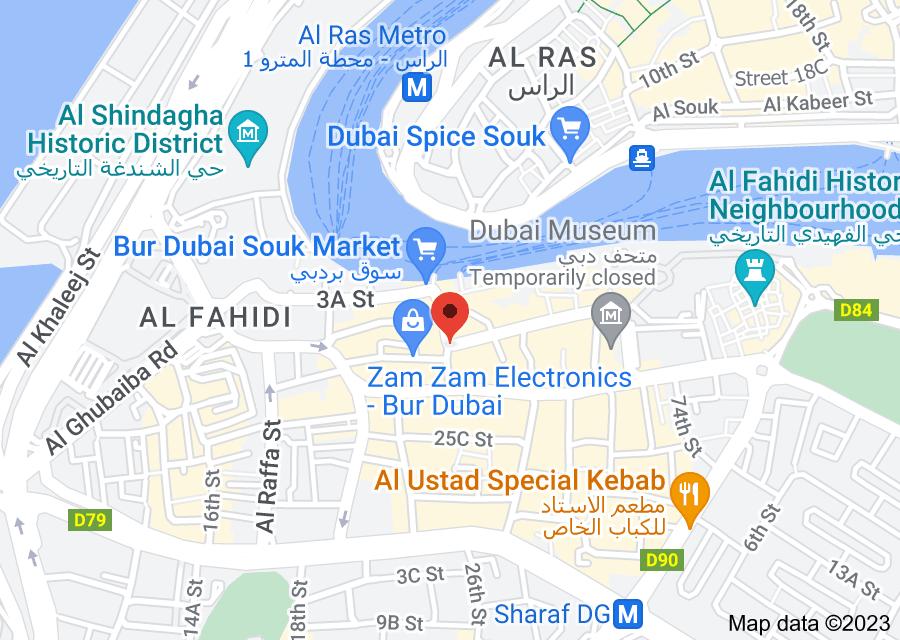 Location of Wall Street Exchange - Bur Dubai