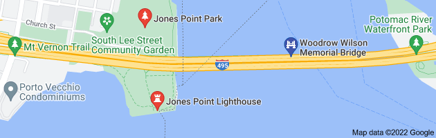 Map of jones point woodrow wilson bridge