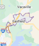 Map of Fairfield, California