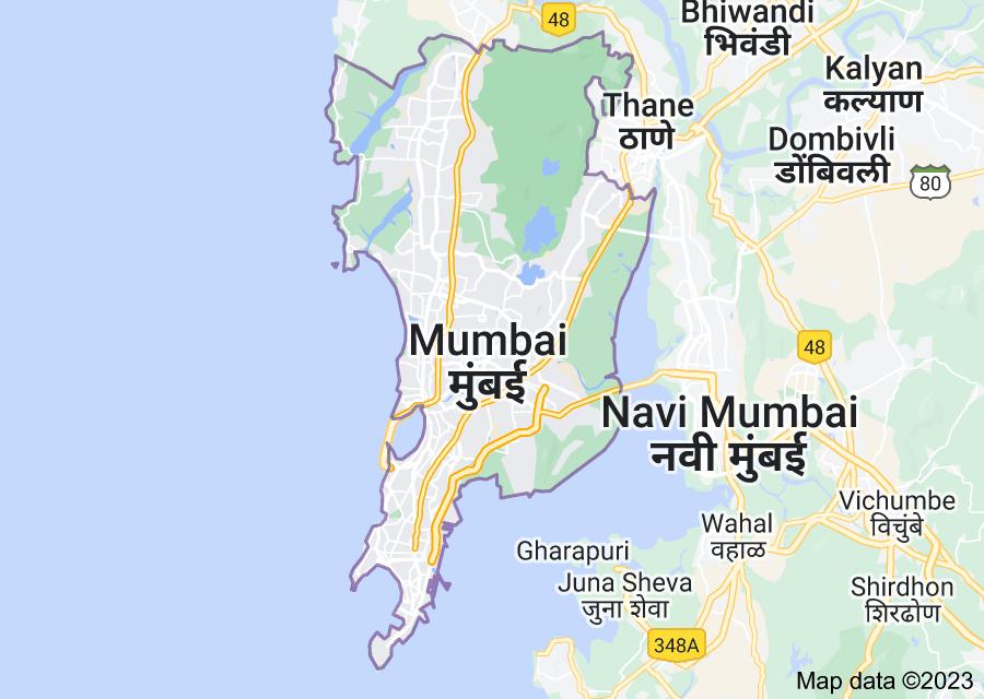 Location of Mumbai