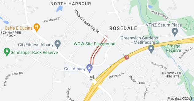 Location of Beatrice Tinsley Crescent