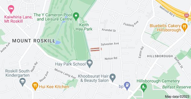 Location of Raven Avenue