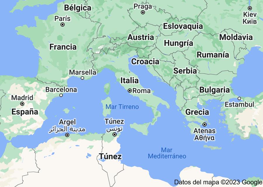 Location of Italia
