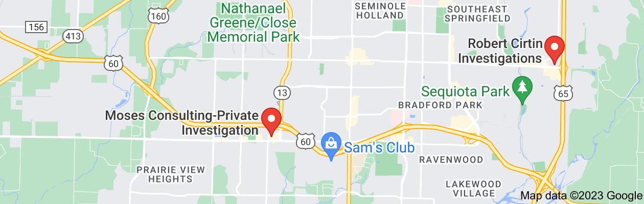 Map of private investigator springfield mo
