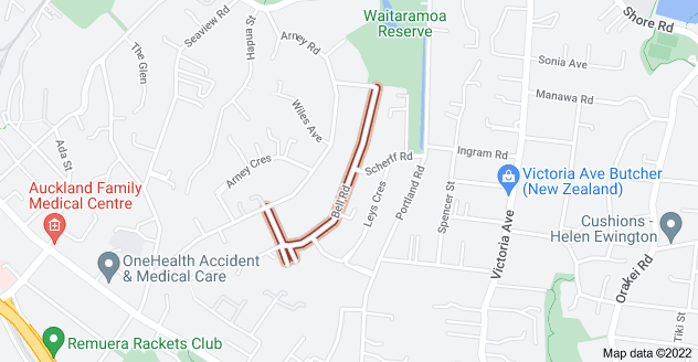 Location of Bell Road