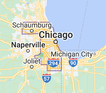 Map of Cook County