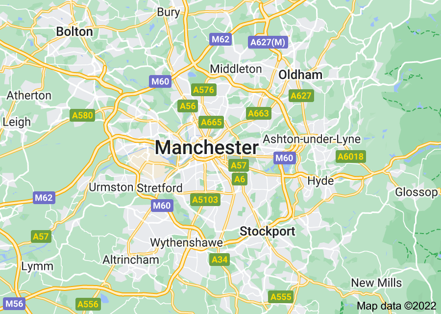 Location of Manchester