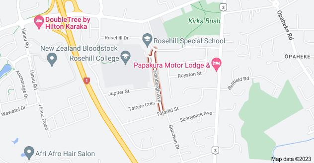 Location of Edinburgh Avenue