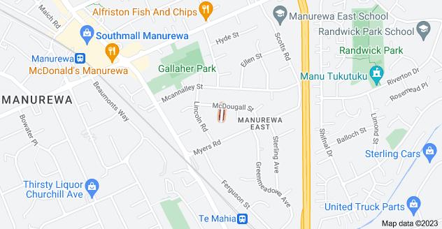 Location of Bowen Street