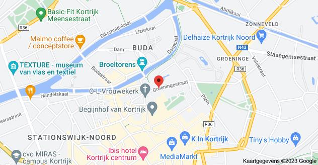 Kaart van Groeningestraat 20, 8500 Kortrijk
