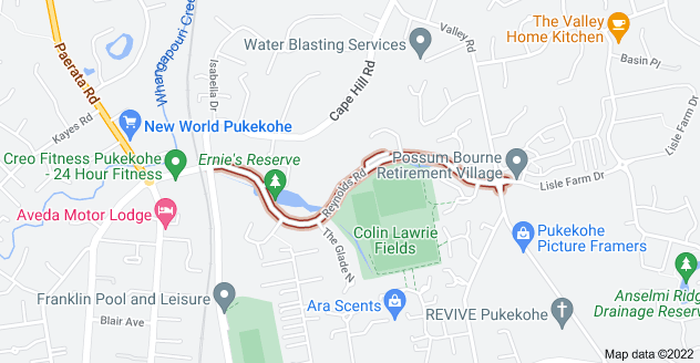 Location of Reynolds Road