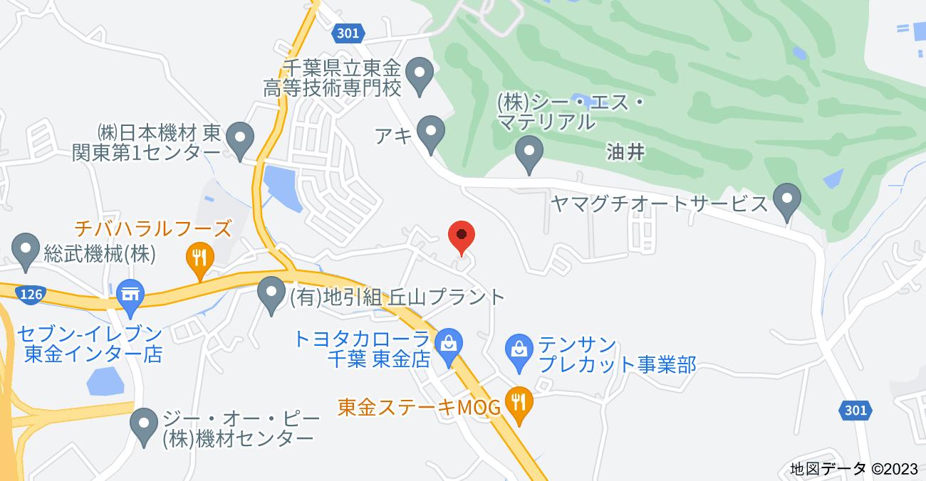〒283-0804 千葉県東金市油井258の地図