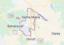 Map of Santa Maria, California