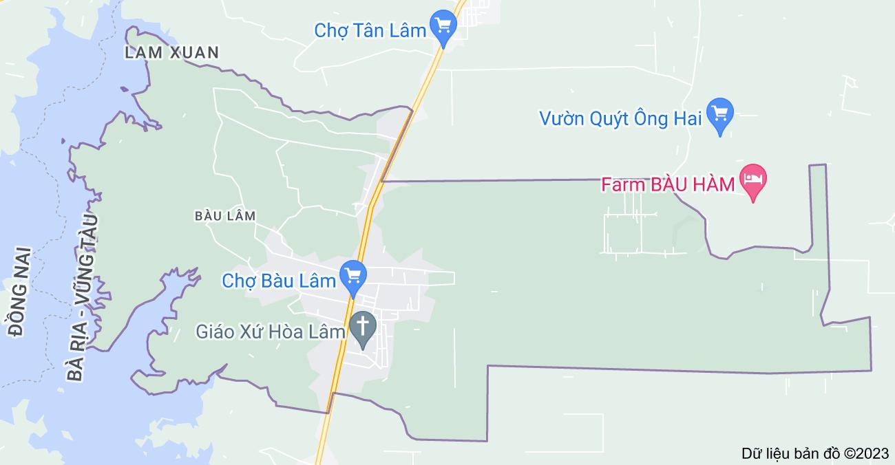 Bản đồ của Bàu Lâm, Xuyên Mộc, Bà Rịa - Vũng Tàu