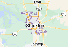 Map of Stockton, California