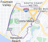 Map of Costa Mesa