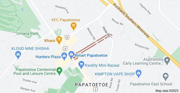 Location of Hoteo Avenue