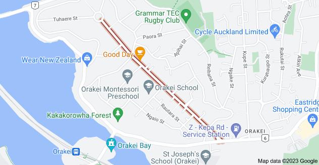 Location of Coates Avenue