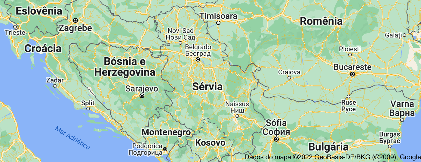 Location of Sérvia