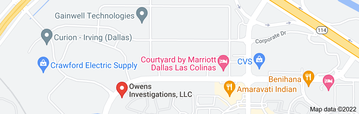 Map of private investigator irving tx